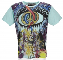 Mirror T-Shirt - Peace / mint