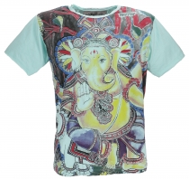 Mirror T-Shirt - Ganesh / mint