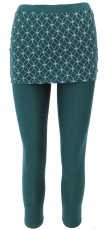 Yoga-Hose, Leggings mit Minirock aus Bio-Baumwolle Flower of life..