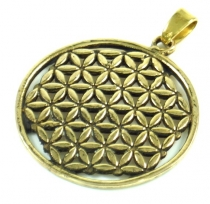Indisches`Flower of life` Amulett, Talisman Medaillon - Model 1