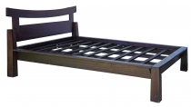 Double bed made of solid wood in Asian colonial style 160 cm - Mo..