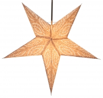 Foldable Advent Starlight Paper Star, Christmas Star Demian natur..