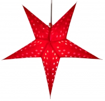 Foldable Advent Starlight Paper Star, Christmas Star Astor red