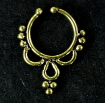 Fake Septum Ring, Nasenring, Nasenpiercing, Ohrring