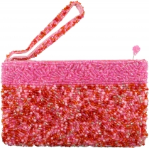 Cosmetic bag with pearl decorations