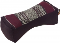 Neck cushion, neck support Thai pillow Kapok - dark red/grey