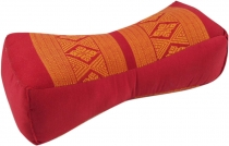Neck cushion, neck support Thai cushion Kapok - red/orange