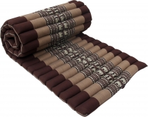 Rollable thai mat with kapok filling - brown