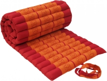 Rollable Thai mat with kapok filling red-orange