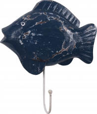 Wall hook - Fish antique blue