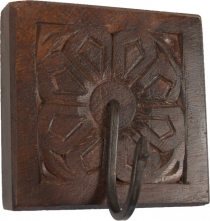 Indian Vintage Wall Hook Ornament - brown