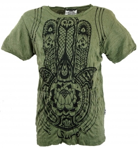 Sure T-shirt Lotus Olive Om